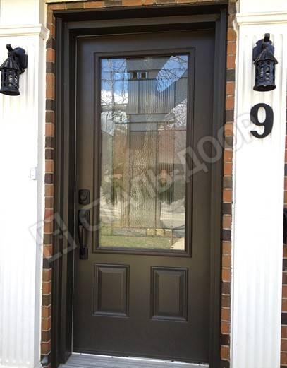 современные металлические двери со стеклопакетом
