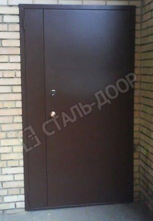 входная дверь с порошковым напылением для коттеджа
