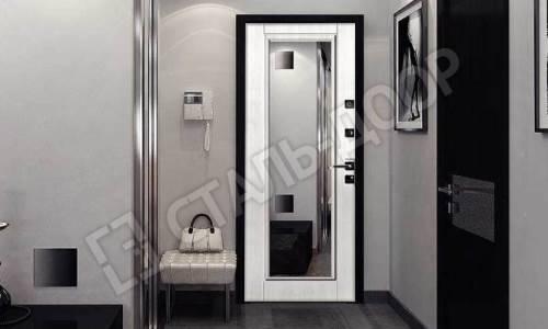 входные двери с зеркалом внутри в люберцах с зеркалом