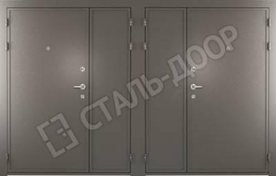стальная дверь порошковая двустворчатая