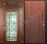 металлические двери обшитые мдф с ковкой