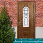 входные двери с ковкой в коттеджей