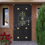 двери парадные металлические чёрные