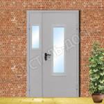 двери стальные остеклённые цена