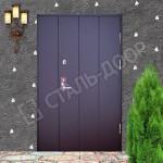 металлические двери в подъезд с окрасом