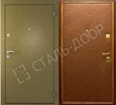 наружные стальные двери эконом для дачи с напылением
