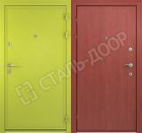 металлические двери эконом класса со стеклом